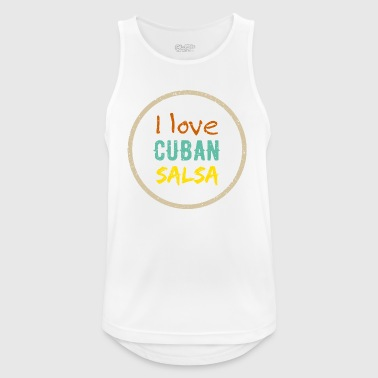 i love cuban salsa - Men's Breathable Tank Top
