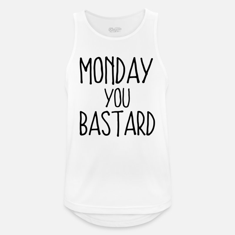 Bestsellers Q4 2018 Tank Tops - MONDAY YOU SON OF A BITCH! - Men's Sport Tank Top white