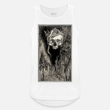 Skull with crown and snake - Men's Sport Tank Top