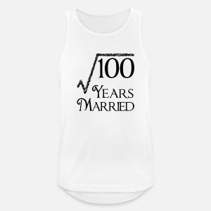100 years married 10th wedding anniversary men s premium t shirt 30- Year Wedding Anniversary men s sport tank top
