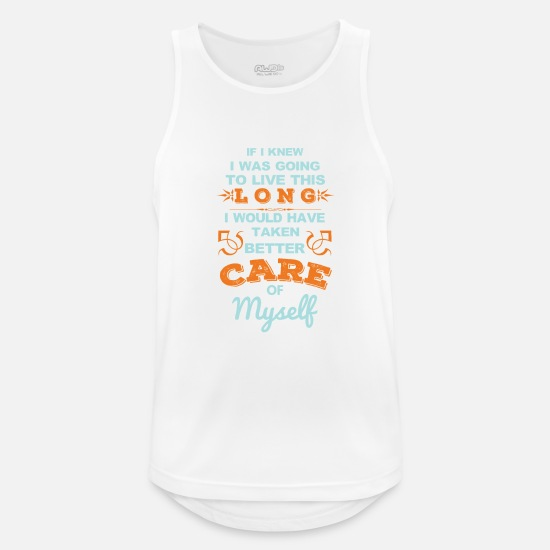 Egoist Tank Tops - Care Of Myself - Men's Sport Tank Top white