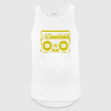 Old School Boombox - Ghettoblaster Music Hip Hop - Men's Breathable Tank Top