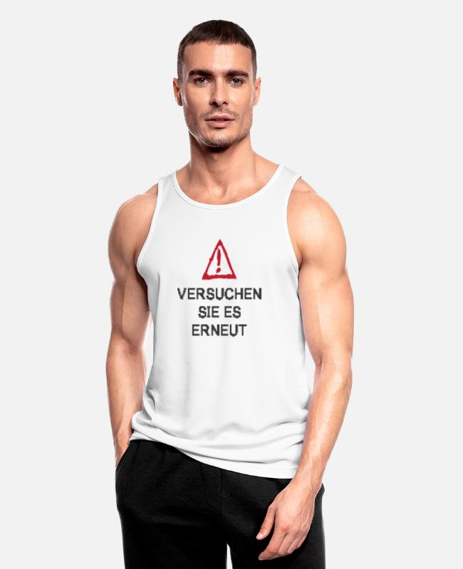 Error Tank Tops - TRY IT AGAIN - Men's Sport Tank Top white