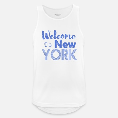 Nyc Welcome to New York Vintage - Männer Sport Tanktop
