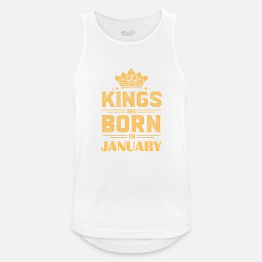 Born In January Gift for January born, born in January - Men's Sport Tank Top