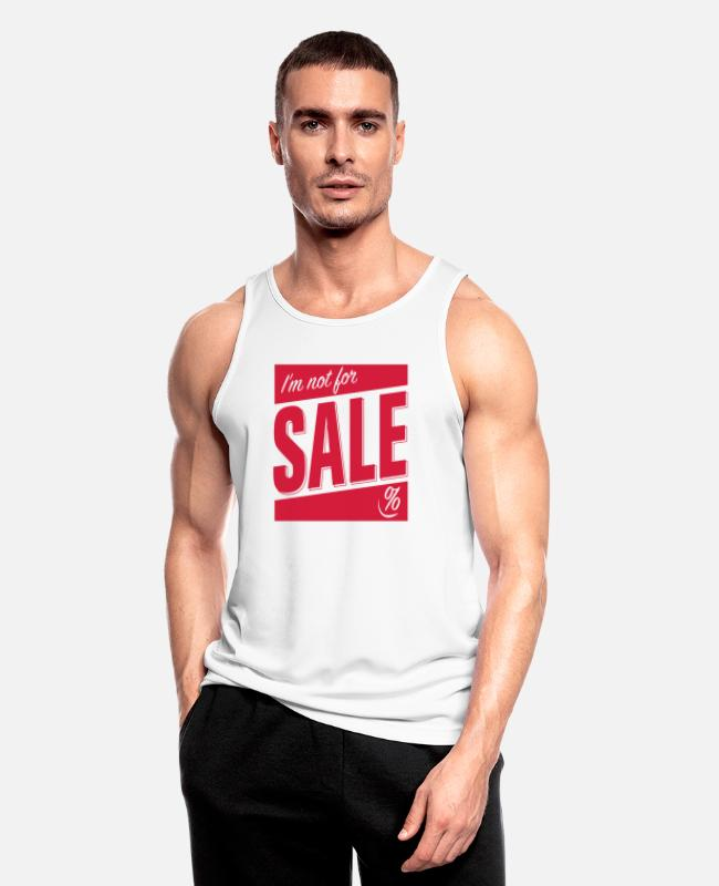 Sale Tank Tops - Not for Sale - Männer Sport Tanktop Weiß