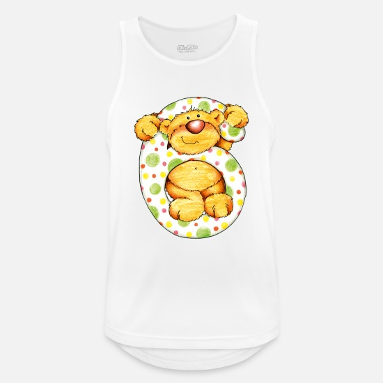 Birthday Tank Tops - Sweet little bear and the 6 - Men's Sport Tank Top white