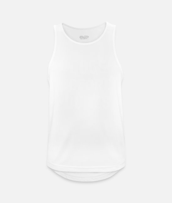 Idea Tank Tops - Dogs Before Dudes - Men's Sport Tank Top white