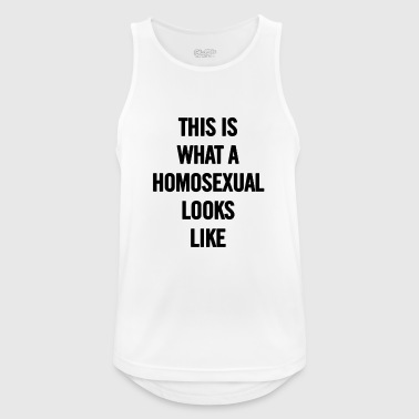 Homosexual This is What A Homosexual Looks Like Black - Men's Breathable Tank Top