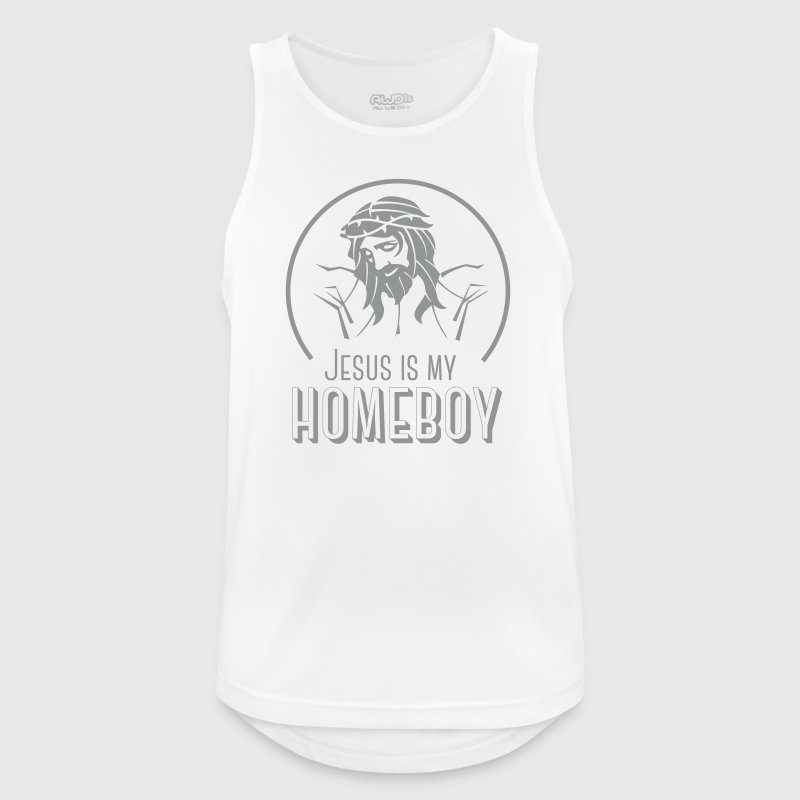 Jesus is my homeboy - Mannen tanktop ademend