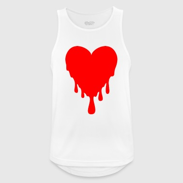 dripping heart - Men's Breathable Tank Top