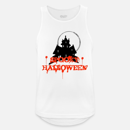 Birthday Tank Tops - Haunted house Haunted house Haunted house Haunted villa Haunted house - Men's Sport Tank Top white