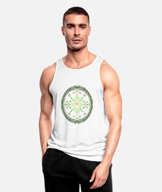 Circular Tank Tops - Advent wreath - Men's Sport Tank Top white
