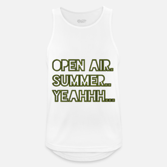 Open Air Tank Tops - Open Air Festival summer 2019 - Männer Sport Tanktop Weiß