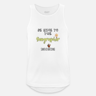 Geographic Be nice to the Geographer Santa is watching - Men's Breathable Tank Top