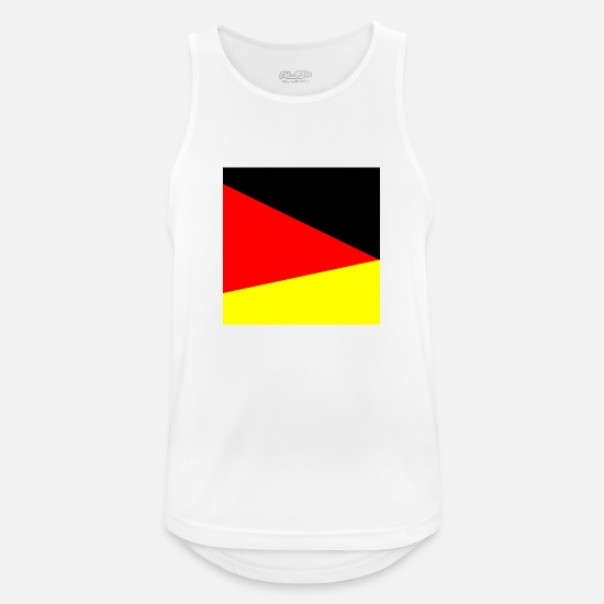 Flag Of Germany Tank Tops - Germany quadrangle - Men's Sport Tank Top white