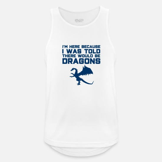 Birthday Tank Tops - Dragon Slayer Fantasy Fairy Tale Knight fable - Men's Sport Tank Top white