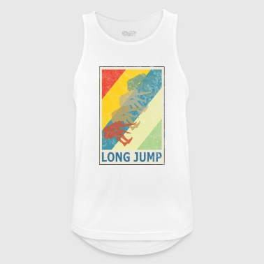 Retro Vintage Style Long Jump Wide Jump - Men's Breathable Tank Top