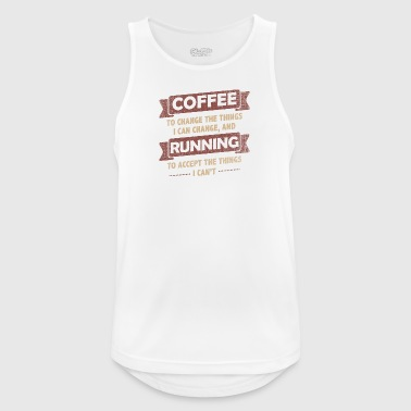 Coffee Coffee Quotes> Coffee + Running> Change + Accept - Men's Breathable Tank Top