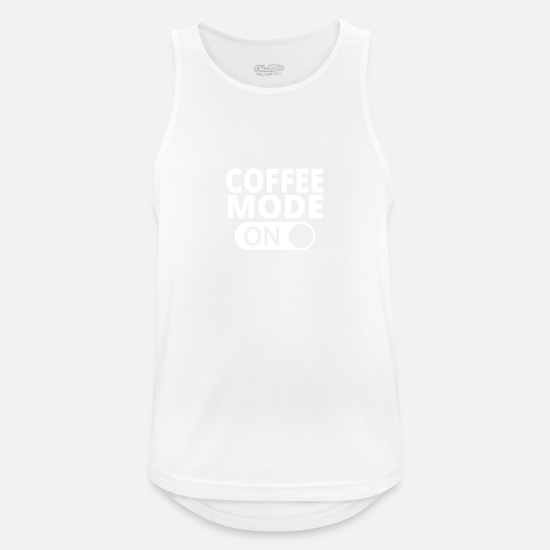 Mode Tank Tops - MODE ON COFFEE - Men's Sport Tank Top white