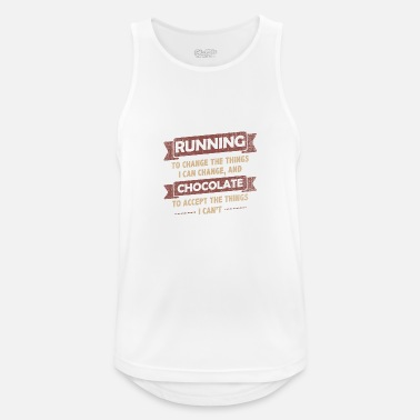 Running Funny Quotes> Running + Chocolate - Men's Sport Tank Top