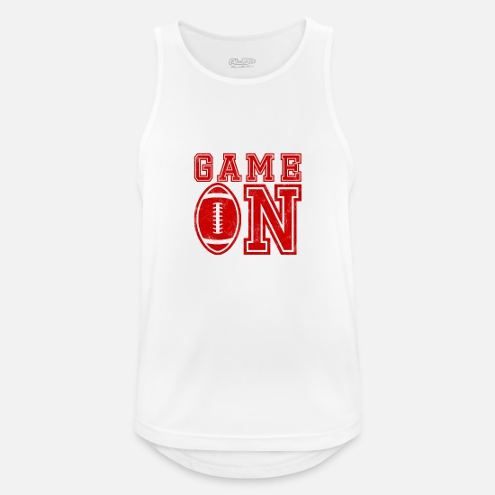 American Football Tank Tops - Super Bowl / Football: Game On - Men's Sport Tank Top white