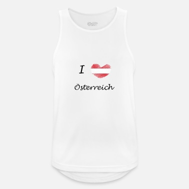 Austria Austria Austria I love Austria - Men's Breathable Tank Top