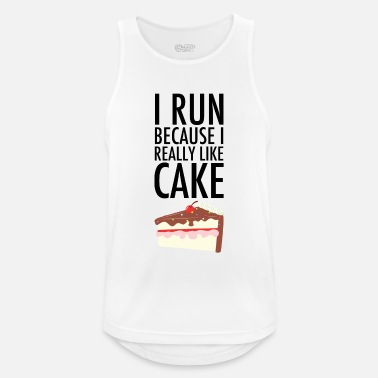 Birthday I Run Because I Really Like Cake - Men's Sport Tank Top