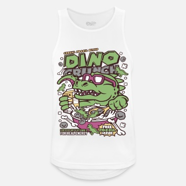 Cartoon Cornflakes Dinosaur Cartoon - Débardeur sport Homme