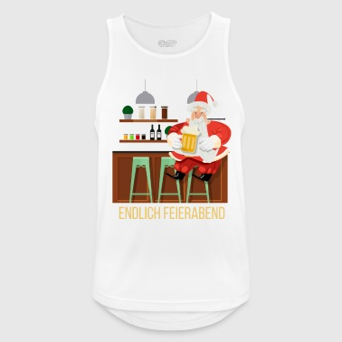 Bar Pub Santa closing time bar pub bar drinking beer - Men's Breathable Tank Top