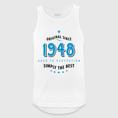 original since 1948 simply the best 70. Geburtstag - Männer Tank Top atmungsaktiv