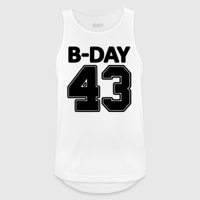Number 43 / 43rd birthday bday number number - Men's Breathable Tank Top