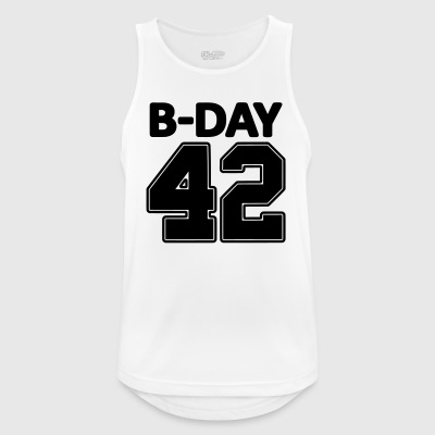 Number 42 / 42nd birthday number jersey number - Men's Breathable Tank Top