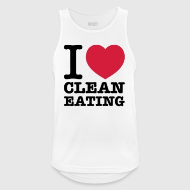 i love clean eating - Men's Breathable Tank Top