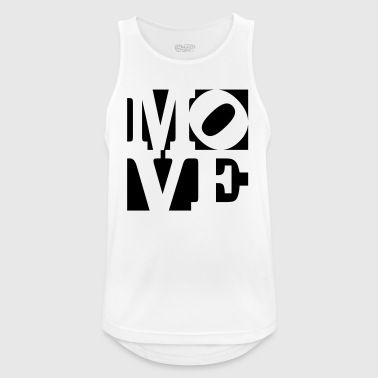 mover Homenaje a Robert Indiana mueven fuera negro - Camiseta sin mangas hombre transpirable