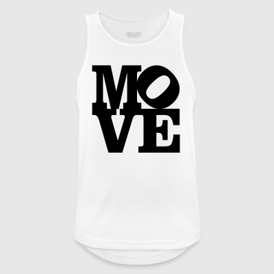 move Homage to Robert Indiana move black inside - Men's Breathable Tank Top