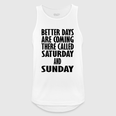 saturday and sunday - Men's Breathable Tank Top
