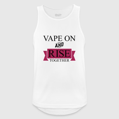 Vape On and RISE Together - Men's Breathable Tank Top