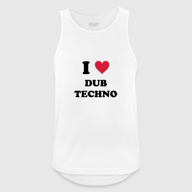 I LOVE TECHNO DUB - Pustende singlet for menn