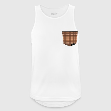Pocket madrass brown - Men's Breathable Tank Top
