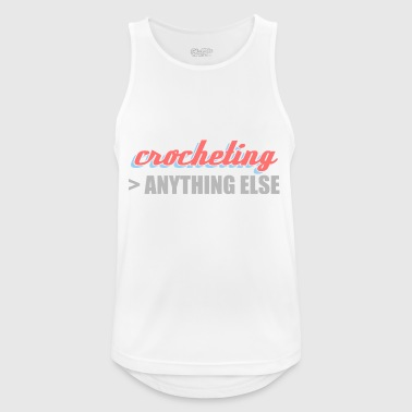crocheting better than anything else crocheting - Men's Breathable Tank Top