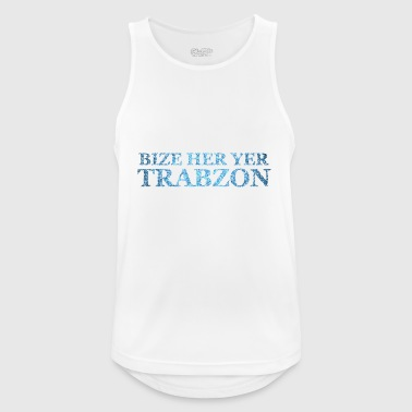 Bize Her Yer Trabzon Blue - Men's Breathable Tank Top