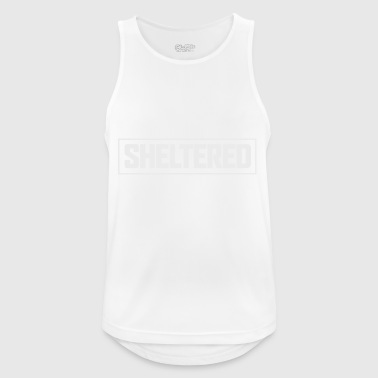 Sheltered Logo Simple White - Men's Breathable Tank Top