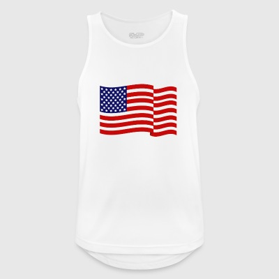 United States flag - Men's Breathable Tank Top