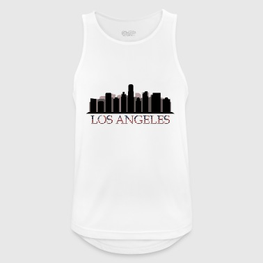 Los Angeles skyline - Pustende singlet for menn