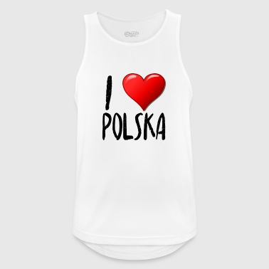 I Love Polska - Men's Breathable Tank Top