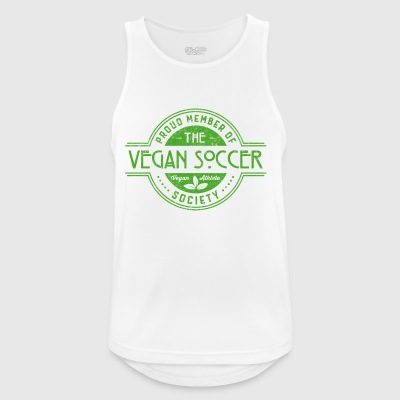 Vegan Soccer Athlete Society Club Member Gift - Pustende singlet for menn