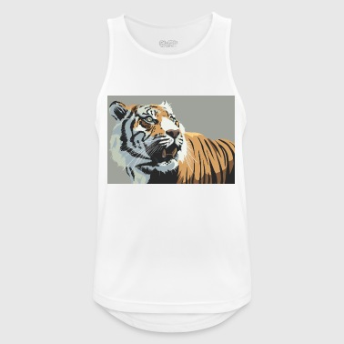 Tiger Illustration - Männer Tank Top atmungsaktiv