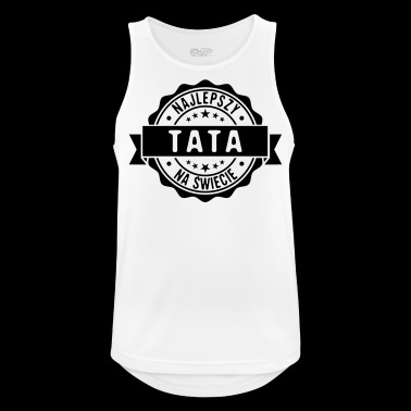 Best Dad in the world stamp stamp - Men's Breathable Tank Top