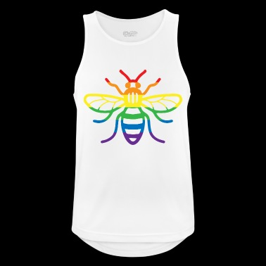 Gay Pride Bee - Men's Breathable Tank Top
